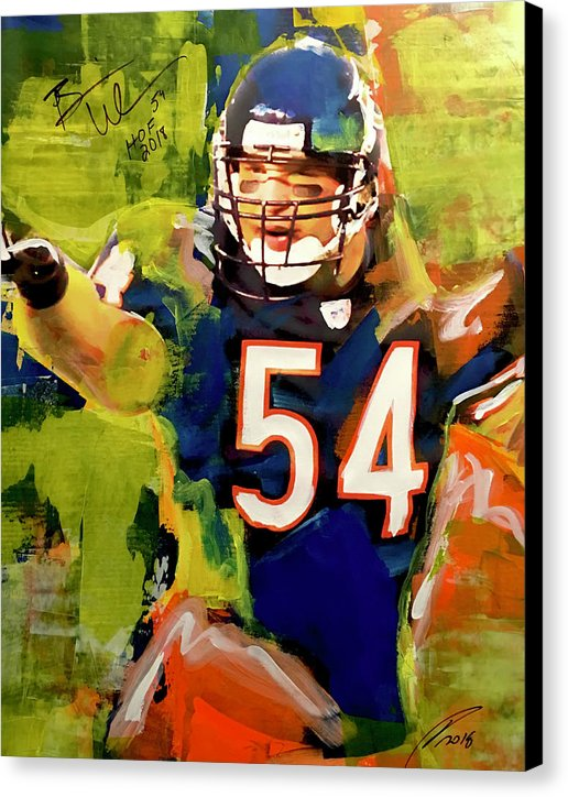 Brian Urlacher - Canvas Print - artrockscharity | Equality Clothing Wear Your Voice | Art Beat Live