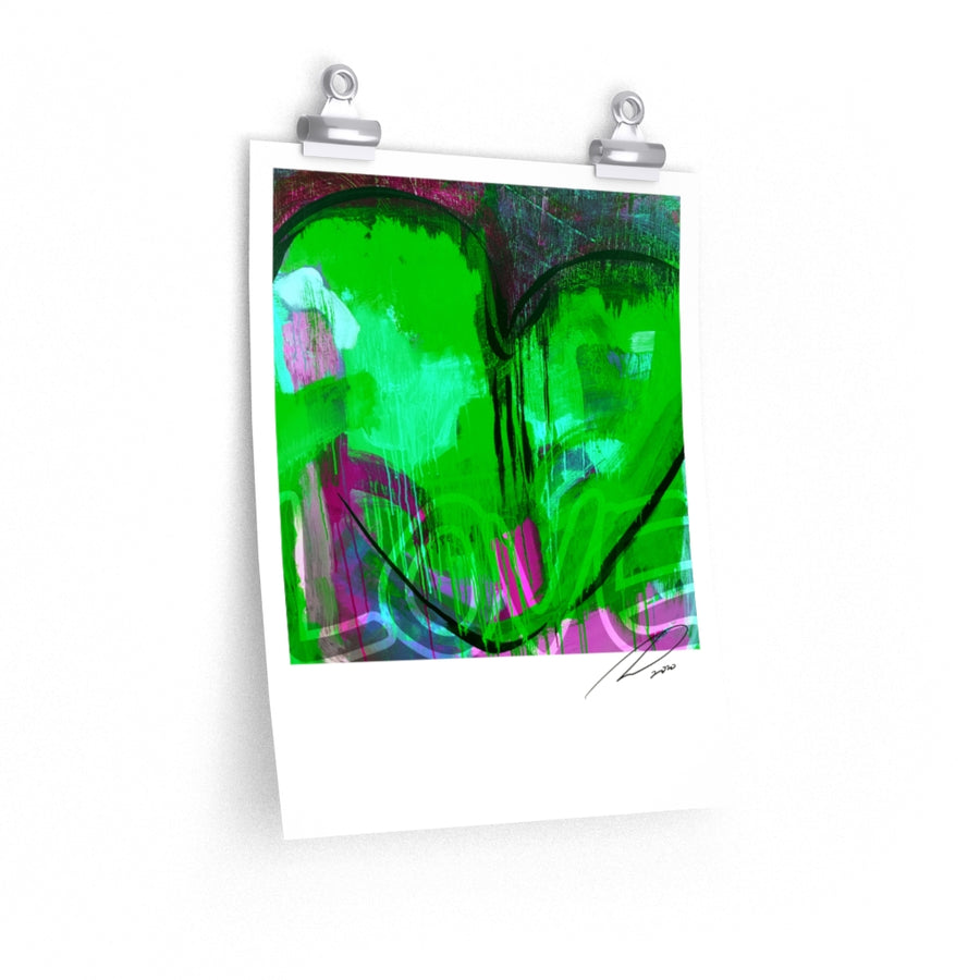 Green Heart Poster 11x14 - artrockscharity | Equality Clothing Wear Your Voice | Art Beat Live