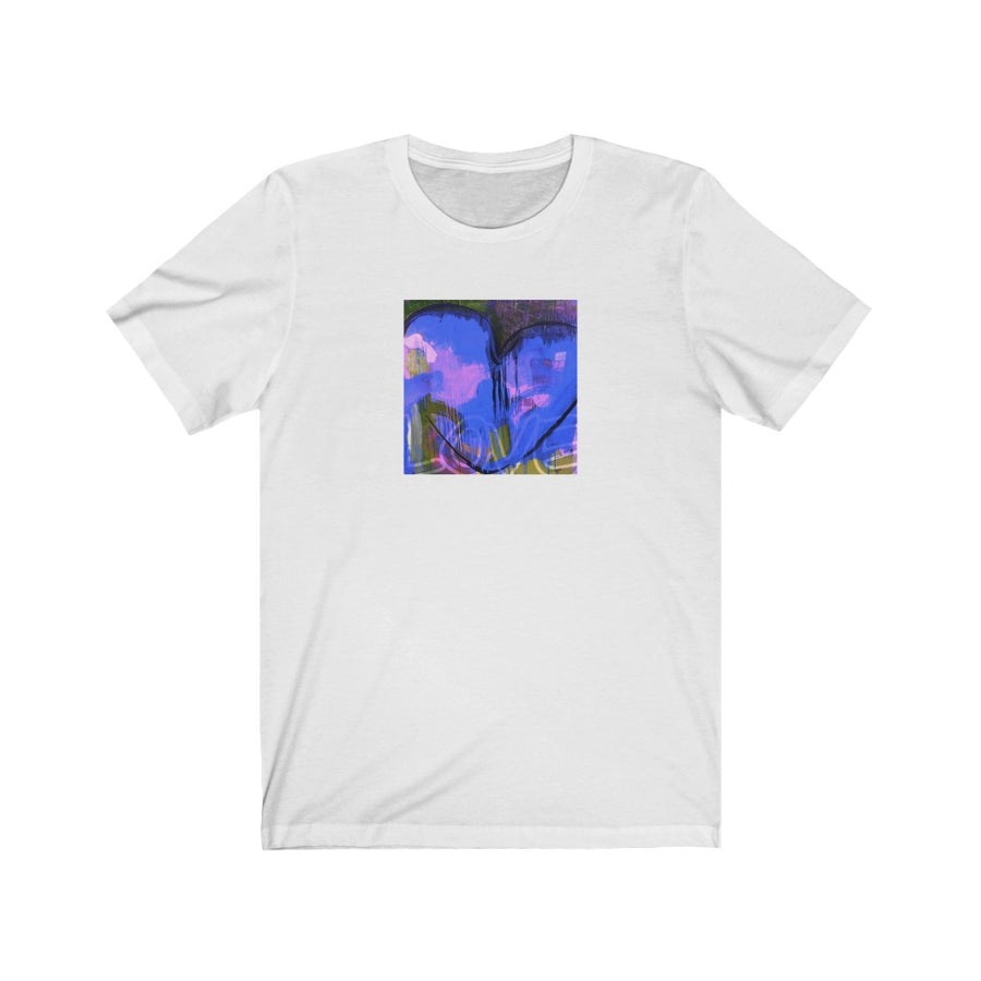 Limited Edition Heart T-Shirt | Blue Heart - artrockscharity | Equality Clothing Wear Your Voice | Art Beat Live
