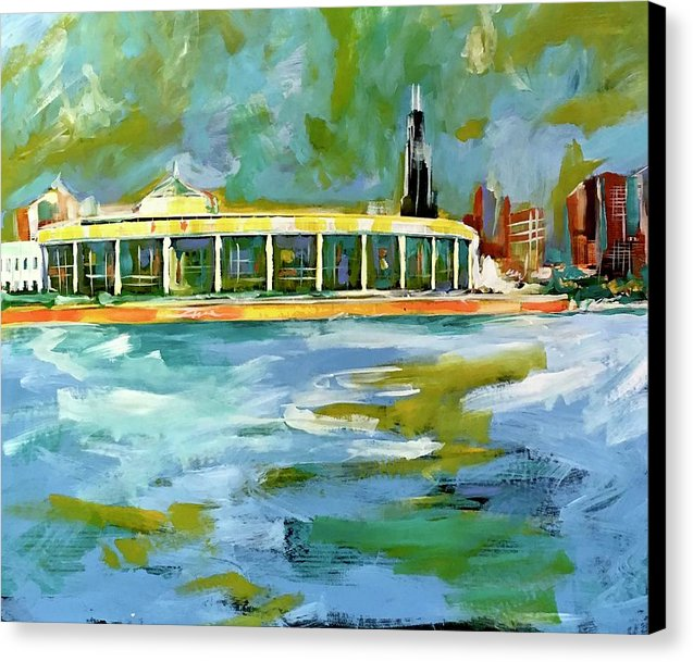 Chicago Skyline 1 - Canvas Print - artrockscharity | Equality Clothing Wear Your Voice | Art Beat Live