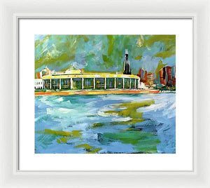 Chicago Skyline 1 - Framed Print - artrockscharity | Equality Clothing Wear Your Voice | Art Beat Live