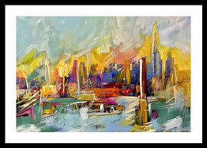 Chicago Skyline 2 - Framed Print - artrockscharity | Equality Clothing Wear Your Voice | Art Beat Live