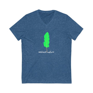 EMBRACE NATURE | Unisex V-Neck Tee - artrockscharity | Equality Clothing Wear Your Voice | Art Beat Live
