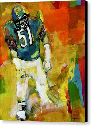 Dick Butkus - Canvas Print - artrockscharity | Equality Clothing Wear Your Voice | Art Beat Live
