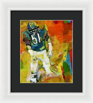 Dick Butkus - Framed Print - artrockscharity | Equality Clothing Wear Your Voice | Art Beat Live