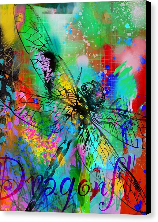 Dragon Fly 2 - Canvas Print - artrockscharity | Equality Clothing Wear Your Voice | Art Beat Live