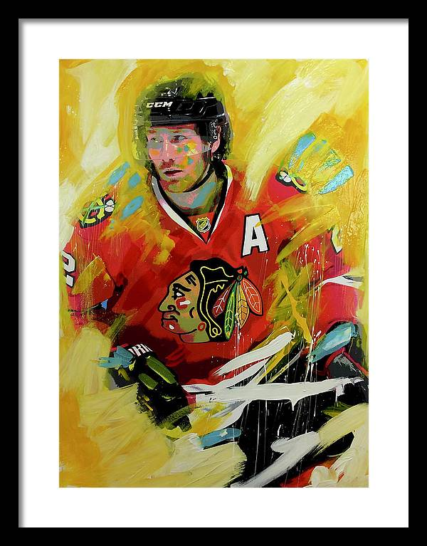 Duncan keith 2 - Framed Print - artrockscharity | Equality Clothing Wear Your Voice | Art Beat Live