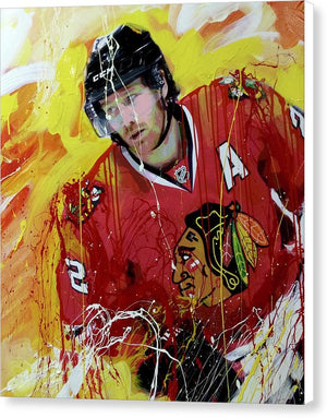 Duncan keith 3 - Canvas Print - artrockscharity | Equality Clothing Wear Your Voice | Art Beat Live