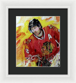 Duncan keith 3 - Framed Print - artrockscharity | Equality Clothing Wear Your Voice | Art Beat Live
