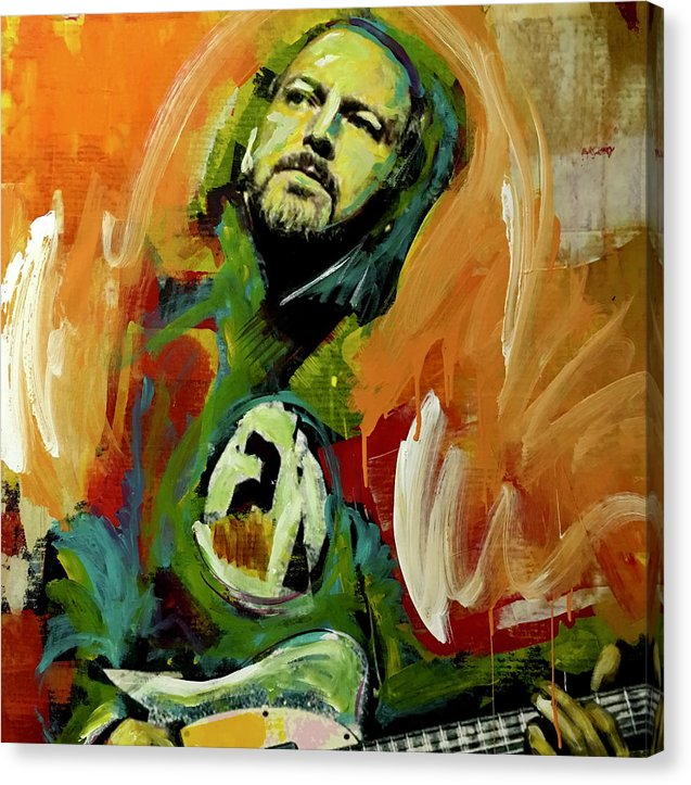 Eddie Vedder - Canvas Print - artrockscharity | Equality Clothing Wear Your Voice | Art Beat Live