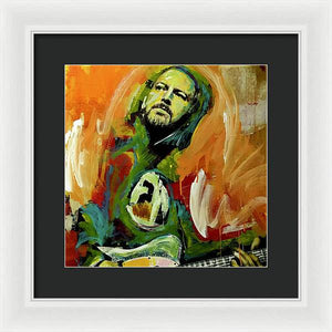 Eddie Vedder - Framed Print - artrockscharity | Equality Clothing Wear Your Voice | Art Beat Live