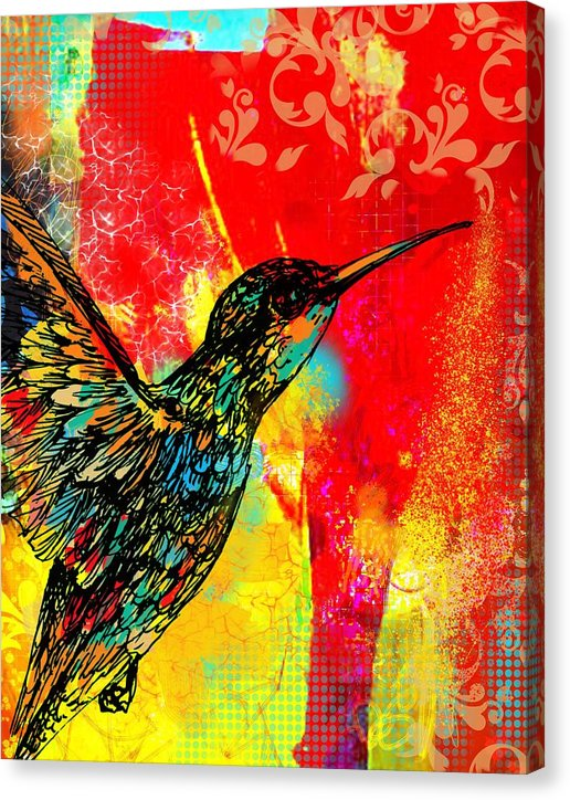 Hummingbird 1 - Canvas Print - artrockscharity | Equality Clothing Wear Your Voice | Art Beat Live