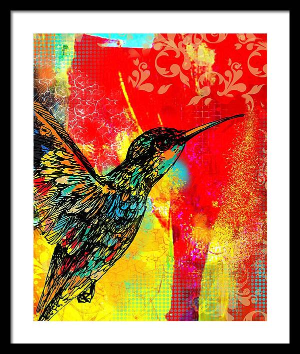 Hummingbird 1 - Framed Print - artrockscharity | Equality Clothing Wear Your Voice | Art Beat Live