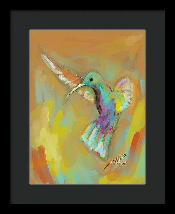 Hummingbird 2 - Framed Print - artrockscharity | Equality Clothing Wear Your Voice | Art Beat Live