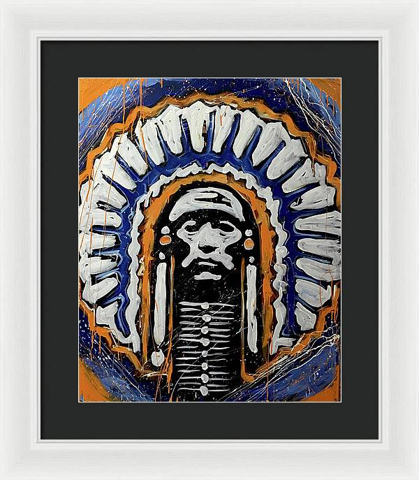 Illini logo - Framed Print - artrockscharity | Equality Clothing Wear Your Voice | Art Beat Live
