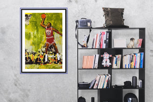 MJ 23. Limited Edition Framed Print - artrockscharity | Equality Clothing Wear Your Voice | Art Beat Live