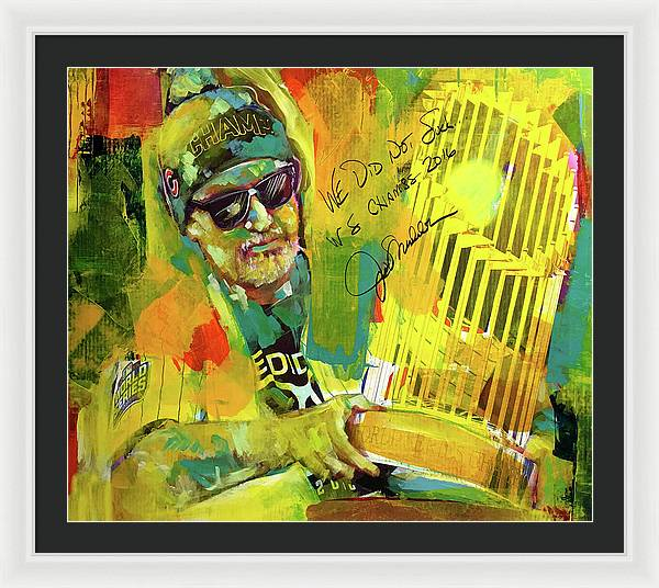 Joe Maddon World Series - Framed Print - artrockscharity | Equality Clothing Wear Your Voice | Art Beat Live