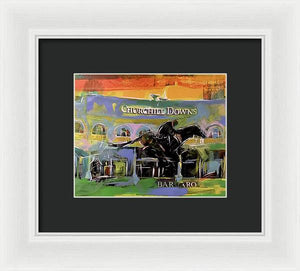 Kentucky Derby 5 - Framed Print - artrockscharity | Equality Clothing Wear Your Voice | Art Beat Live