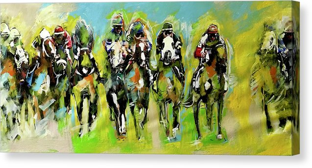 Kentucky Derby 2 - Canvas Print - artrockscharity | Equality Clothing Wear Your Voice | Art Beat Live