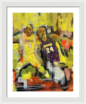 Kobe Bryant - Framed Print - artrockscharity | Equality Clothing Wear Your Voice | Art Beat Live