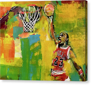 MJ 23 Slam 1 - Canvas Print - artrockscharity | Equality Clothing Wear Your Voice | Art Beat Live