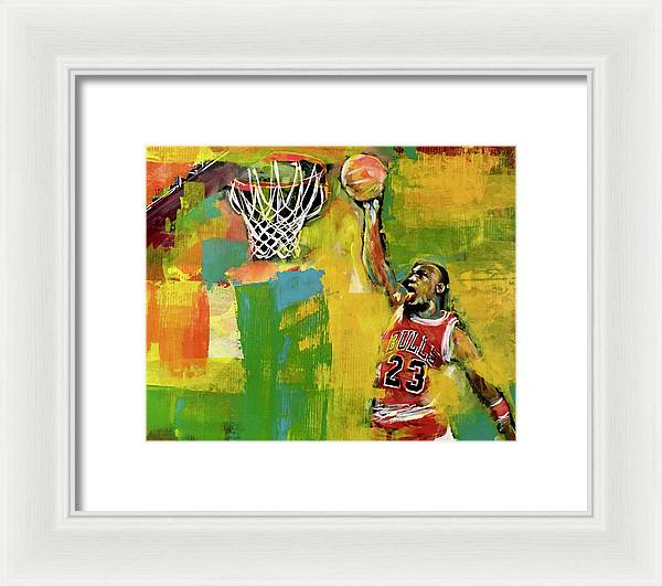MJ 23 Slam 1 - Framed Print - artrockscharity | Equality Clothing Wear Your Voice | Art Beat Live