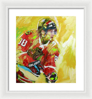 Patrick kane 1 - Framed Print - artrockscharity | Equality Clothing Wear Your Voice | Art Beat Live