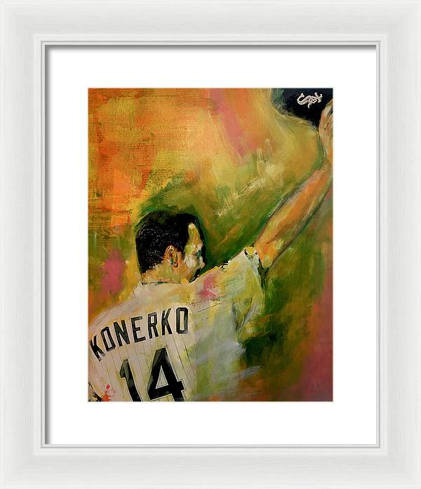 Paul Konerko - Framed Print - artrockscharity | Equality Clothing Wear Your Voice | Art Beat Live
