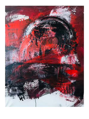 "Red/Black 2 |  Print 18"" x 24"" - artrockscharity 