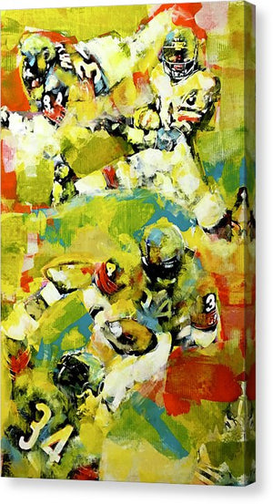 Walter Payton - Canvas Print - artrockscharity | Equality Clothing Wear Your Voice | Art Beat Live