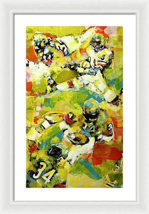 Walter Payton - Framed Print - artrockscharity | Equality Clothing Wear Your Voice | Art Beat Live
