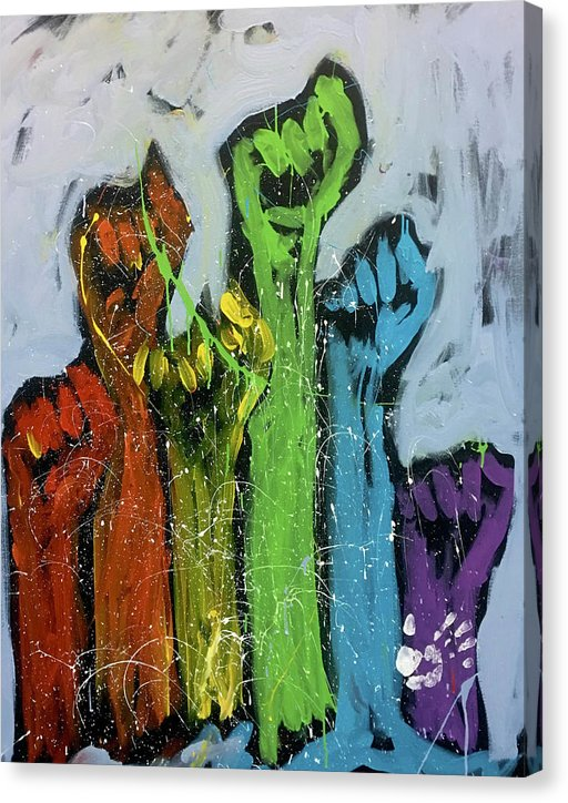 We Are All Equal - Canvas Print - artrockscharity | Equality Clothing Wear Your Voice | Art Beat Live