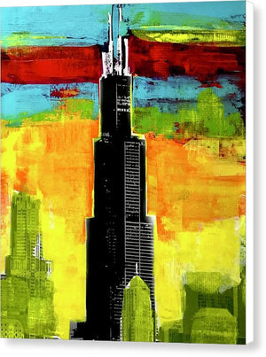 Willis Tower - Canvas Print - artrockscharity | Equality Clothing Wear Your Voice | Art Beat Live