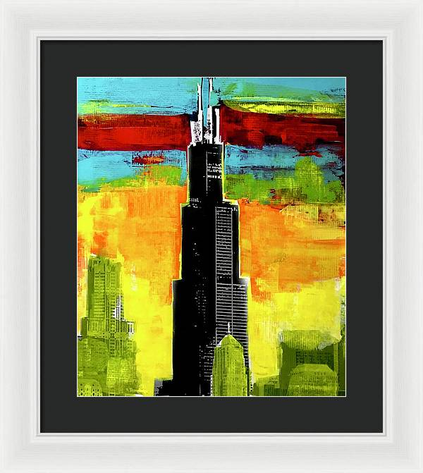 Willis Tower - Framed Print - artrockscharity | Equality Clothing Wear Your Voice | Art Beat Live