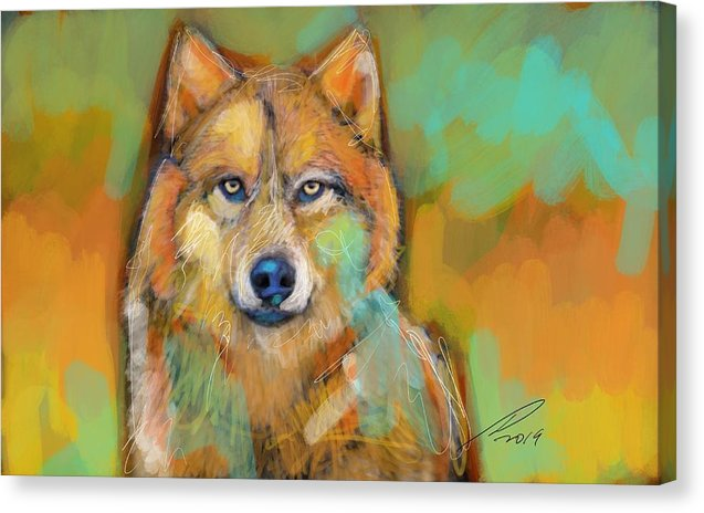 Wolf - Canvas Print - artrockscharity | Equality Clothing Wear Your Voice | Art Beat Live