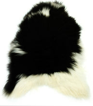 Load image into Gallery viewer, Natural Black and White Icelandic Sheepskin