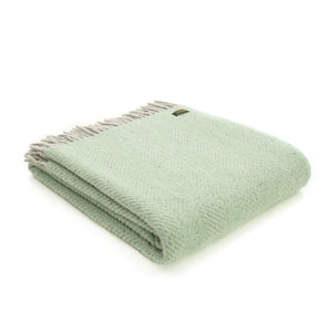 Herringbone New Wool Throw - 8 colours available
