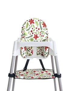 High Chair Cushion Cover - Merry & Bright - mytinyfingers baby products