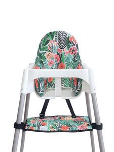 High Chair Cushion Cover - Floral - mytinyfingers baby products