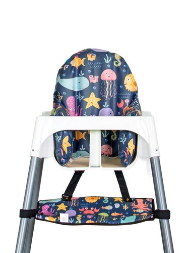 High Chair Cushion Cover - Under The Sea - mytinyfingers baby products