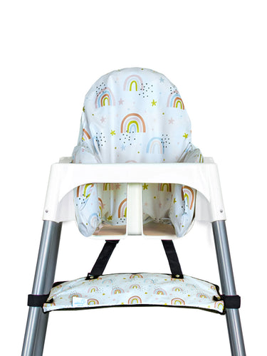High Chair Cushion Cover - Rainbow with Stars - My Tiny Fingers
