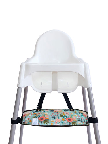 Footsi® High Chair Footrest - Minty Floral - My Tiny Fingers