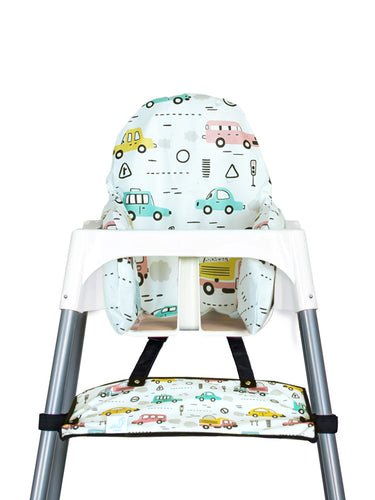 High Chair Cushion Cover - Toy Car - My Tiny Fingers