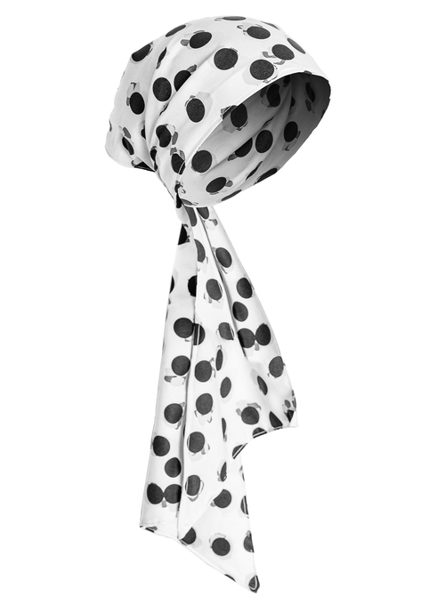 Hera Polka Dots White - Turban - We Are Goddess Society