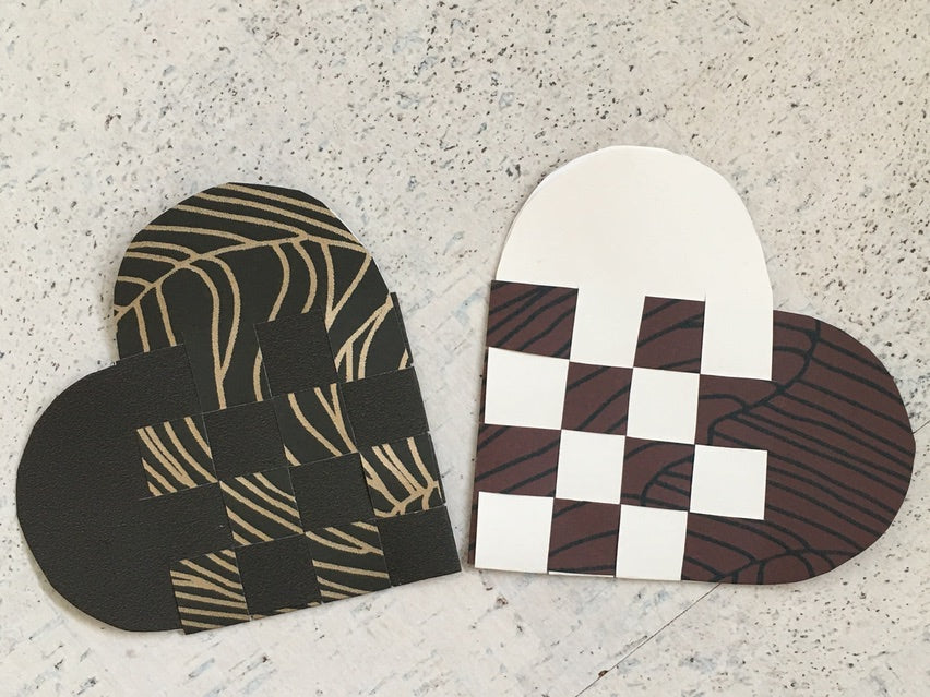 How To Make Danish Woven Paper Hearts