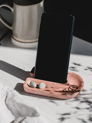 Badger & Birch Phone Stand & Trinket Tray - Cloudberry Living