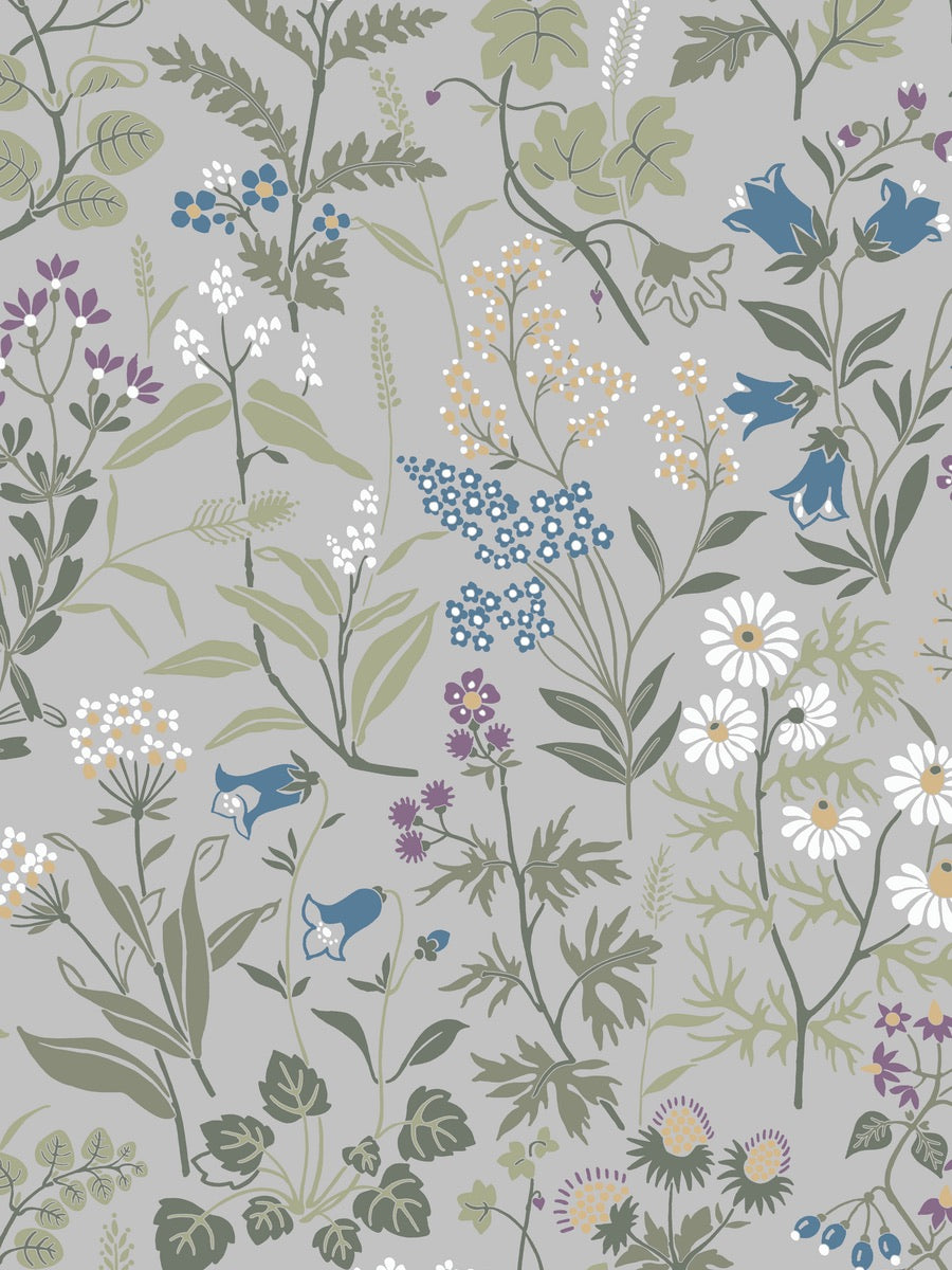 Boråstapeter Jubileum Wallpaper Flora 5474 - 5476 - Cloudberry Living