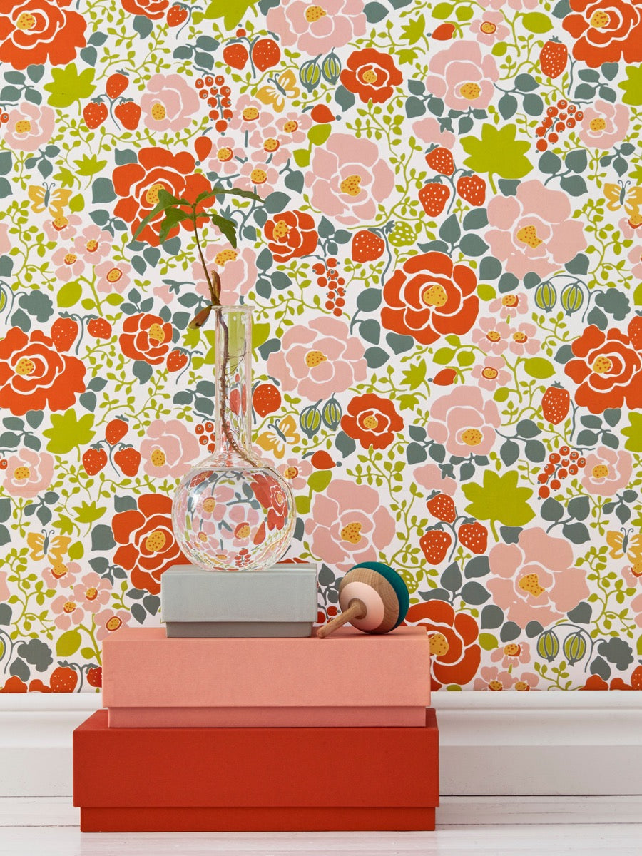 Boråstapeter Jubileium Wallpaper Jordgubben 5466 - Cloudberry Living