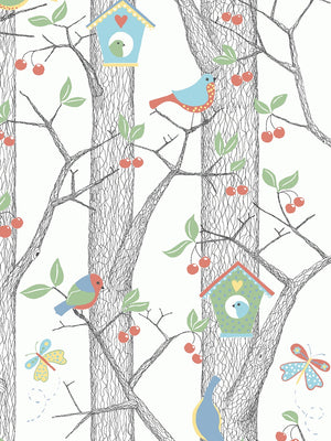 Boråstapeter Scandinavian Designers Mini Wallpaper  Cherry Friends 6261 - 6262 - Cloudberry Living