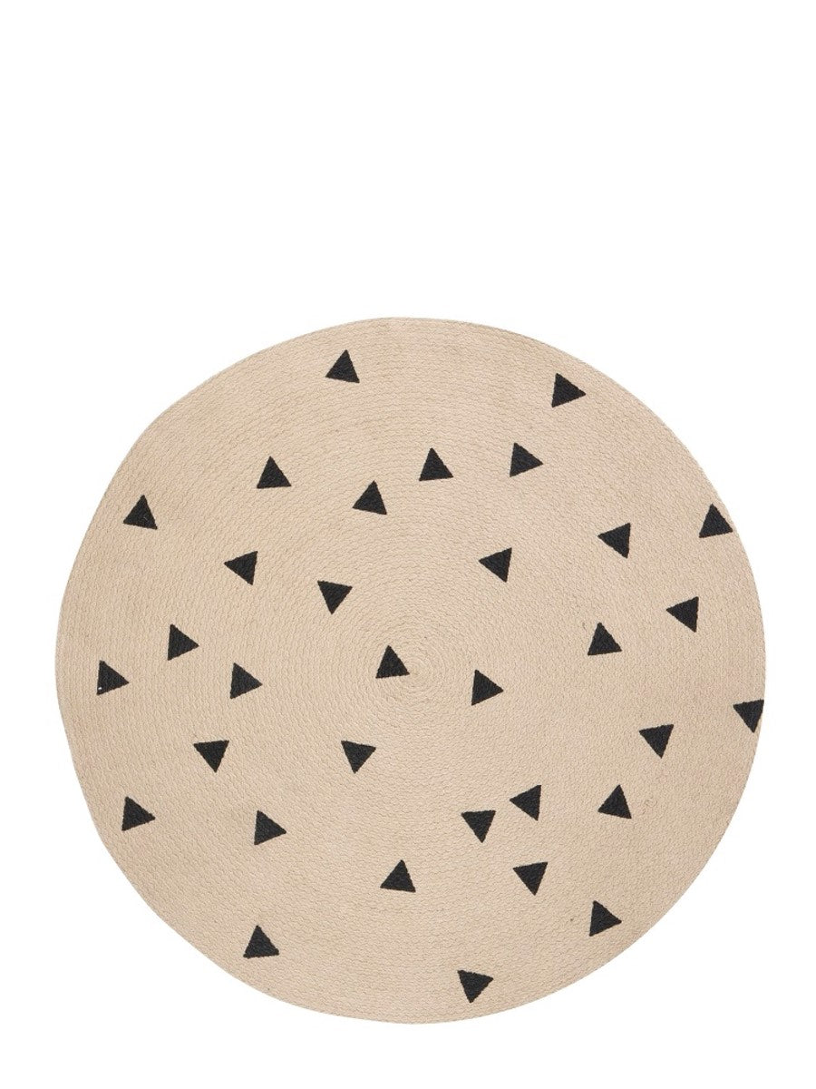 Ferm Living Jute Carpet Black Triangles - Cloudberry Living